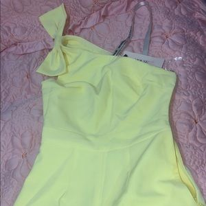never worn House of CB Yellow Jumpsuit Romper